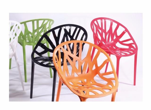 Design moderno Plastica Vegetale vite Sedia Da Pranzo Sedia Design ...