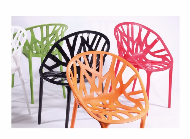 Modern Design Plastic Vegetal Vine Dining Chair Tree Design PP Polypropylene  Chair Modern Fashion Popular Mould