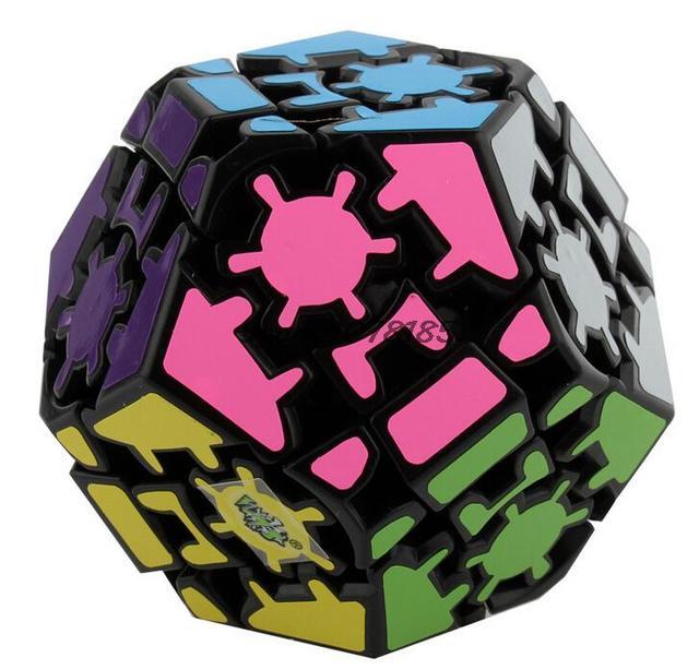 Engrenagem LanLan Megaminx Puzzle Cube Magic Speed Cubo magico Puzzle brinquedo aprendizado & educação jogo kub