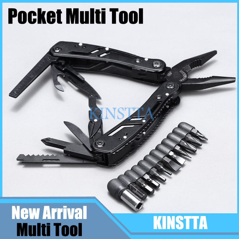 Multi Pocket Mini Folding Portable Outdoor Hand Tool Pliers with Screwdriver Climbing Hiking Plier Camping Survival EDC Tool Kit