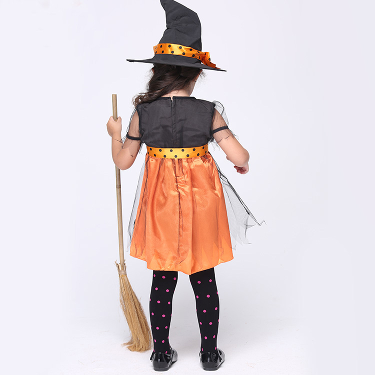 Orange Charmed Witch Cosplay Clothing Child Fantasy Fancy Dress ...