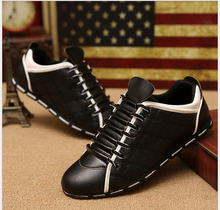 Synthetic leather Men Shoes Spring Male Casual Shoes New 2017 Fashion Leather Shoes Loafers Men's shoes Flats zapatillas