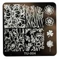 2016 stainless steel nail art stamping plates DIY Nail Art Image Stamp Stamping Plates Manicure Template  Anne