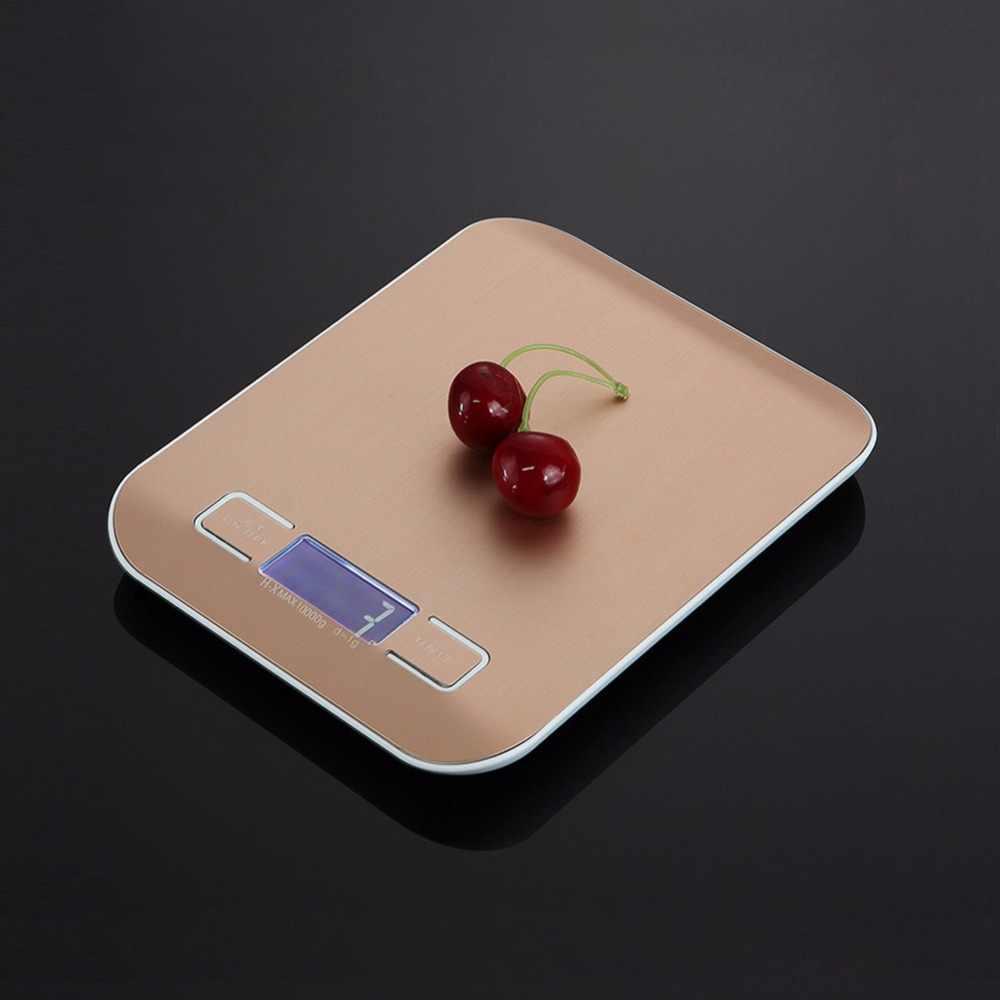 Портативные цифровые весы 10 кг/1 г для кухни, высокоточные Качественные электронные весы, весы для взвешивания пищи, шкала для заваривания чая