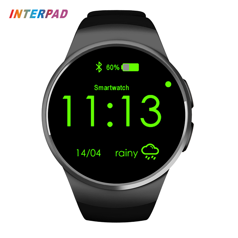 Interpad KW18 Bluetooth Smart Watch Android iOS Clock Support SIM TF Smartwatch With Heart Rate For Huawei Samsung PK gear s3 kw18 heart rate smart watch bluetooth health smartwatch sim compatible for apple ios android