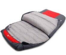 Xueshanfu 2 Person 4500G/5000G Ente Unten Füllung Professionelle Wärme Wasserdichte Komfortable Camping Schlafsack Slaapzak