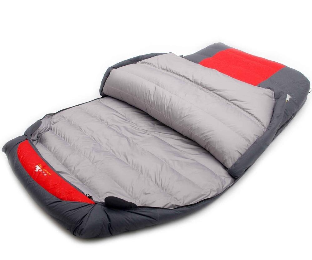 Xueshanfu 2 Personne 4500G/5000G Duvet de Canard De Remplissage Professionnel Chaleur Étanche Confortable Camping Sac de Couchage Slaapzak