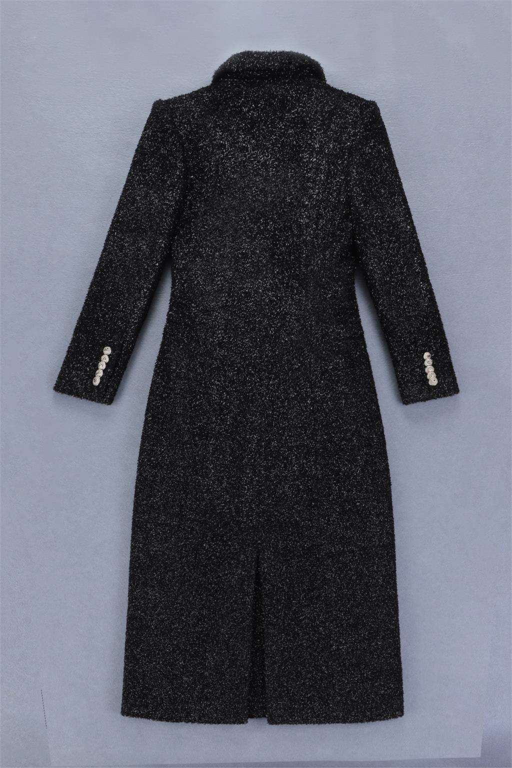 Longues Deavogy 2018 Nouvelle Manches Veste Mode Femmes Chiffon Manteau Noir À rQBohxtsdC