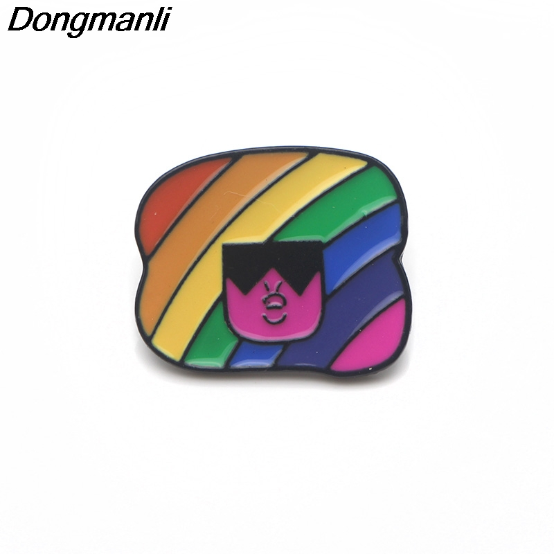P3681 Dongmanli Steven Universe Cute Metal Enamel Pins and Brooches for Lapel Pin Backpack Bags Badge Cool Gifts in Brooches from Jewelry Accessories