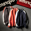 Mens Fashion Brand Casual Long Sleeve Contrast Color Striped Cotton Hip Hop Thick Hoodies Sweatshirts Boy Pullovers Size S-4XL