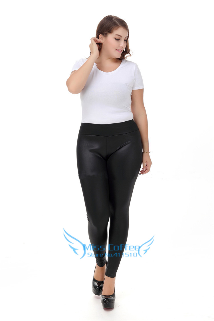Women Pants Plus Size S-XXXXXL 2017 Winter Fashion Long Leather Pants Black Skinny Trousers High Waist PU Leather