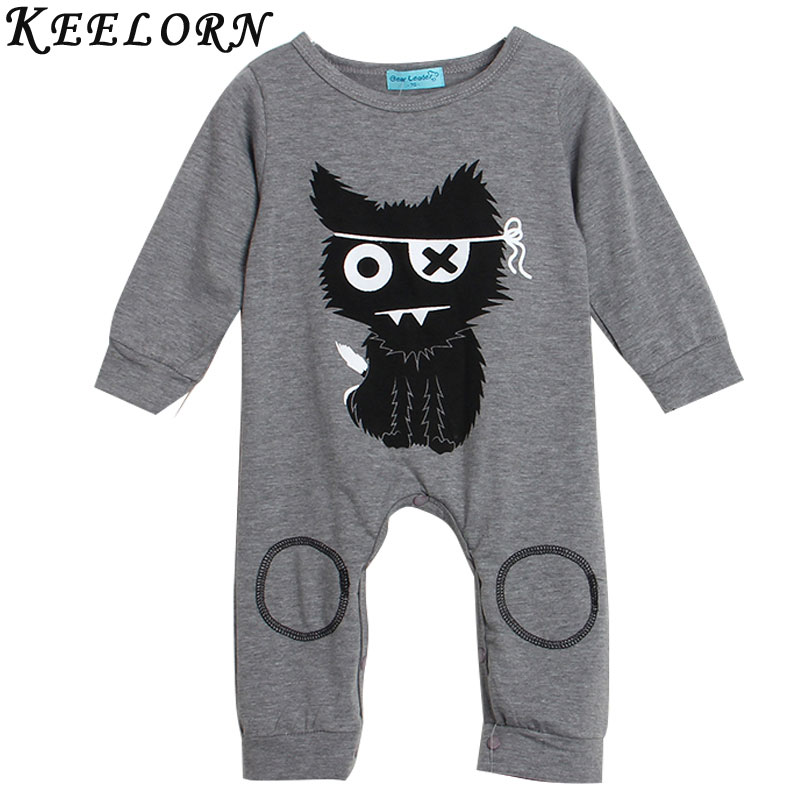 Kids clothing 2017 baby rompers spring infant clothes baby clothing sets boy Cotton little monsters long sleeve baby boy clothes warm thicken baby rompers long sleeve organic cotton autumn