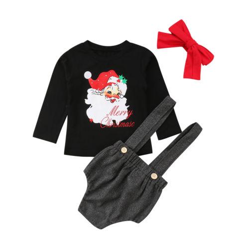 Aliexpress Com Buy 3pcs Newborn Toddler Long Sleeve Santa Baby