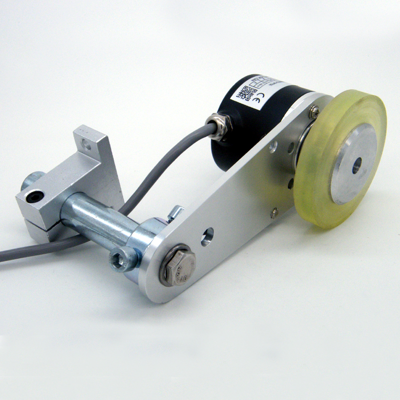 Hot sale GHW38 Length Measuring Device Non-slip Roller Wheel Rotary Encoder with Metal Mounting Bracket hot sale good quality e6b2 cwz3e 2000p rotary encoder
