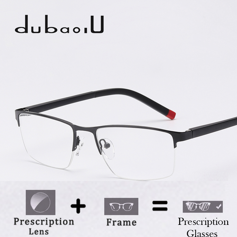 Prescription Glasses Optical-Bifocal Progressive Photochromic Lens Clear Alloy Men