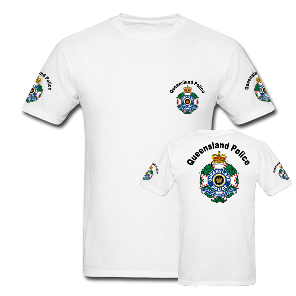 Queensland Police T Shirts Mens Australia Short Sleeve Tees Custom Men Hip  Hop Streetwear Tops Brand Clothing tshirts-in T-Shirts from Men s Clothing  on ... 9a1d7c858f51
