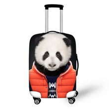 3D Animals Travel Trolley Suitcase Protective Cover Panda Tiger Dog Wear Clothes Print Stretch Fabric Luggage Covers(China)