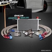 19 Row Oil Cooler Kit For Nissan Silvia S13 S14 180SX 200SX 240SX SR20DET Turbo