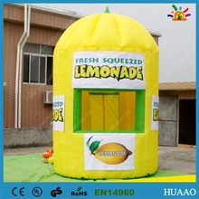 цены  Hot sale Outdoor Camping Tent Kiosk Inflatable Lemonade Booth with Free Banners and CE blower