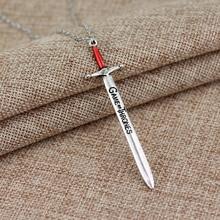 Antique Silver Sword pendant Necklace
