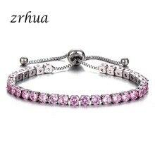 2c53a4bef297 Pulseras de Moda ZRHUA para mujer Color oro rosa y plata de ley 925  zirconia encanto pulsera y brazaletes joyería regalos de fie.
