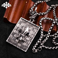 Anchor Punk Dog tag for men stainless  Steel  Necklace for gift