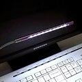 USB светодиодная настольная лампа, гибкая подсветка для чтения клавиатуры ноутбука 5 В, серебристый/черный/золотой/фиолетовый/синий/красный