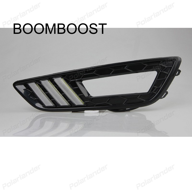 BOOMBOOST 2 pcs car parts turn signal Daytime running lights Car styling for F/ord New F/ocus 2015 boomboost 2 pcs auto lamps daytiime running lights car styling for f ord k uga or e scape 2013 2015