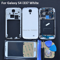 Original Full Housing Cover + Front  Glass Screen For Samsung Galaxy S4 i337 White Complete Housing Middle Frame Replacement
