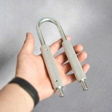 A forma di U 50 130 kg / 80 180kg Regolabile Aumentare La Forza della Molla Impugnatura Extender strumento portatile ginnico