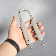 U şekilli kolu 50 130 kg / 80 180kg ayarlanabilir artırmak gücü bahar parmak kavrama genişletici el aleti egzersiz