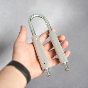 Image 1 - U shaped Handle 50 130 kg / 80 180kg Adjustable Increase Strength Spring Finger Grip Extender handheld instrument exerciser