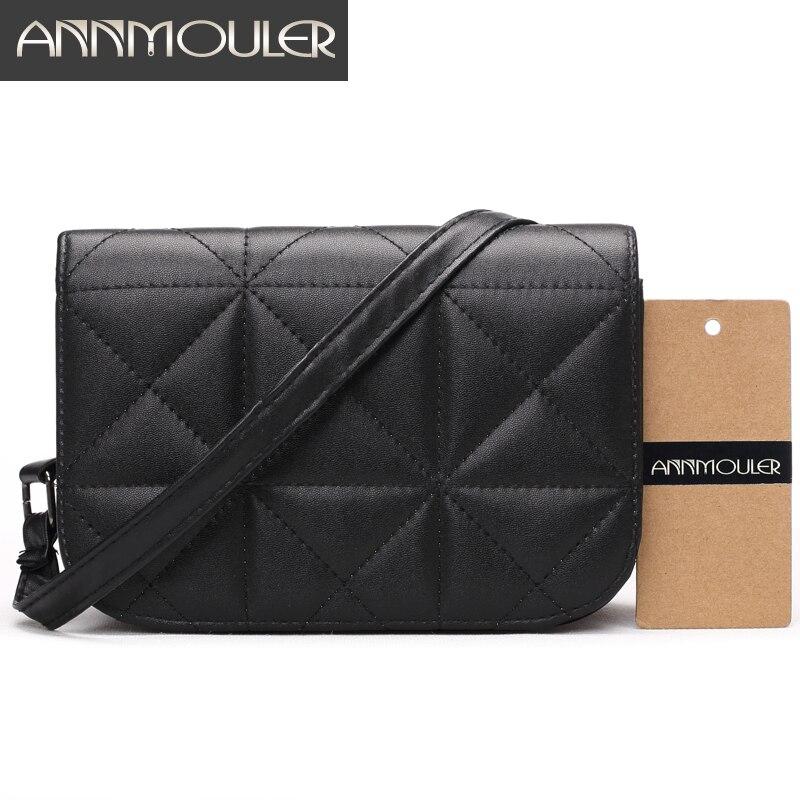 Annmouler Mini Women Bags Candy Color Small Phone Bag High Quality PU Leather Shoulder Bag Gold Female Crossbody Messnenger Bag все цены