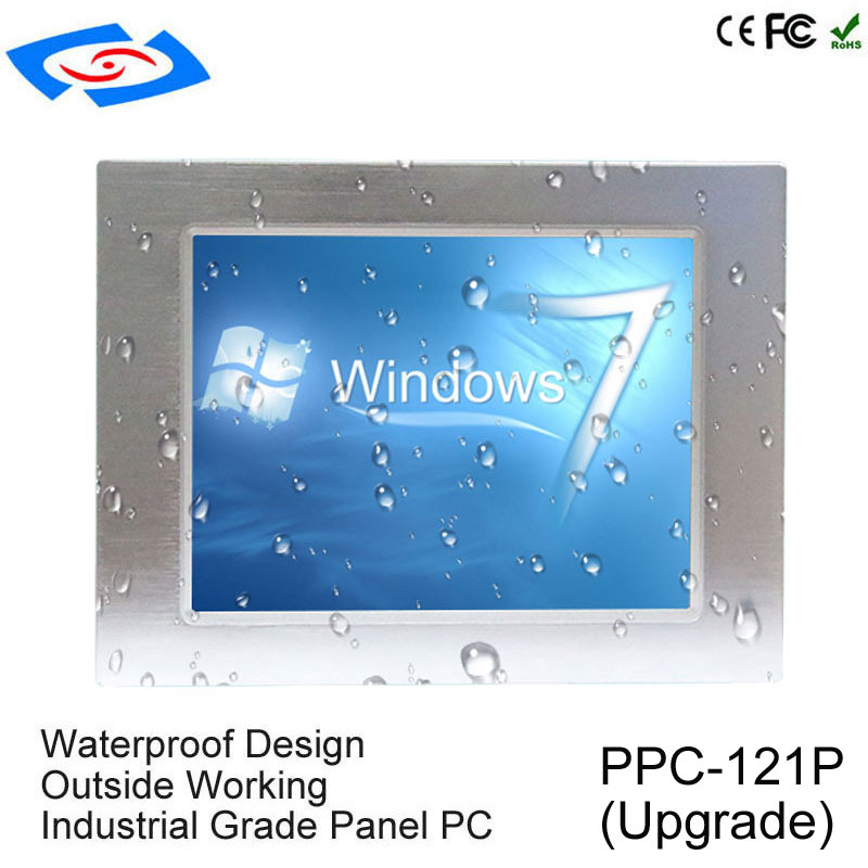 Newest 12.1 Industrial Touch Screen Panel PC With XP/Win7/Win10 Linux System Industrial Grade Tablet PC Application Bank POS shenzhen ling jiang high performance 15 fanless industrial touch screen panel pc with xp win7 win8 win10 linux system tablet
