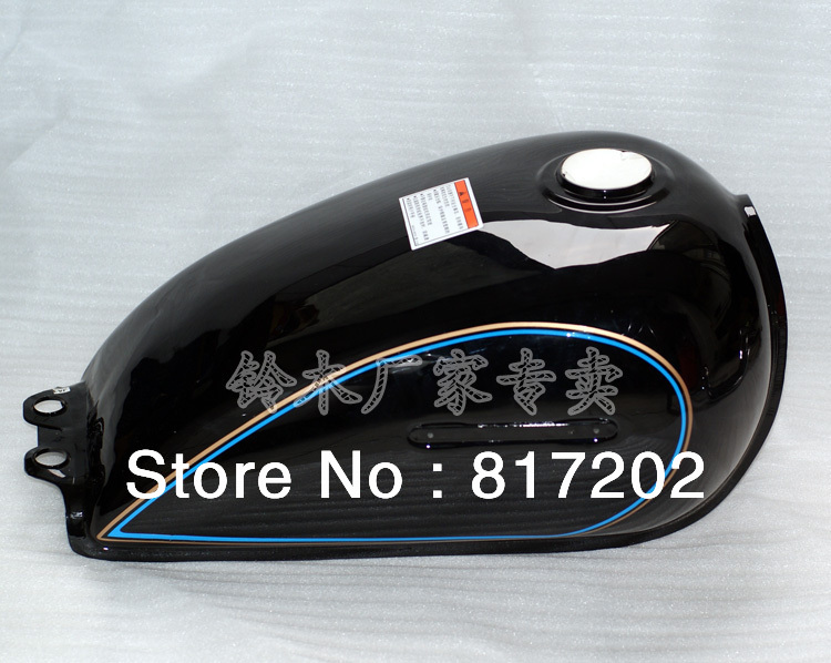 цена на NEW OEM QUALITY GN250 GN250 FUEL ( PETROL GAS ) TANK, BLACK color with LETTER Emblem