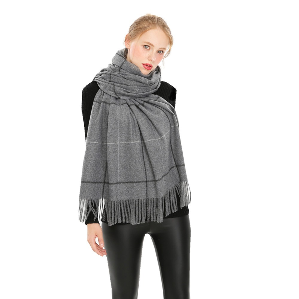 Winter Scarf Plaid Lattices Pashmina Unisex Scarf Shawl Wrap Luxury Warm Scarf Girls Boys Female Male