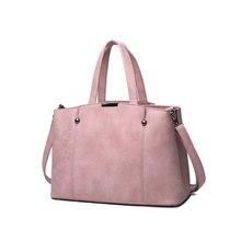 Hot Sale Nubuck Leather Women Top-Handle Bags Candy Color Women Shoulder Bag Rivet Women Bags