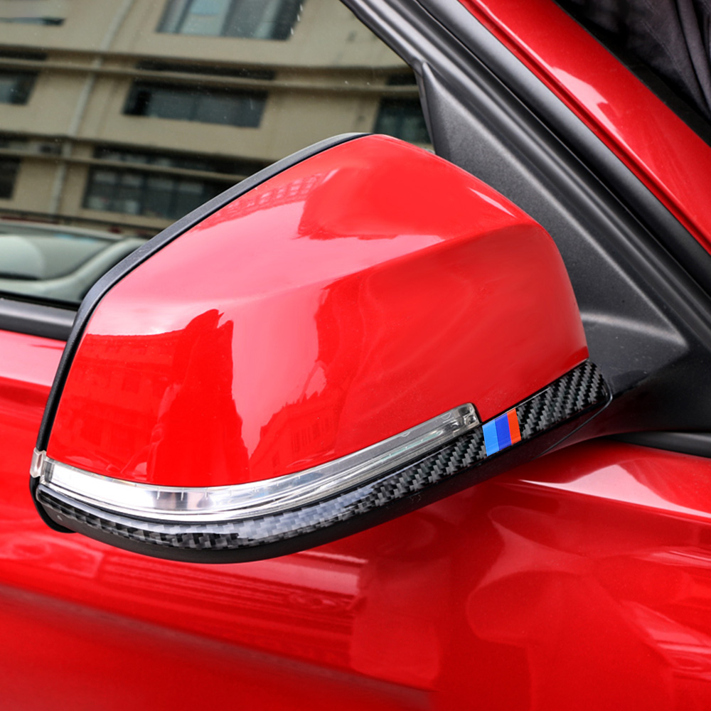 Carbon Fiber Rearview Mirror Anti-rub Strip Car <font><b>Sticker</b></font> Anti-collision Strip Accessories for <font><b>BMW</b></font> F30 <font><b>F31</b></font> F32 F33 F34 (2012-2020) image