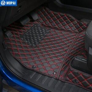 Image 2 - MOPAI araba iç aksesuarları deri paspaslar ayak pedleri kiti dekorasyon kapak Ford F150 2015 Up araba Styling