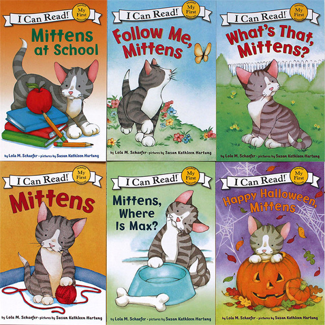 6 Booksset First I Can Read Mittens Children Story Books -6412