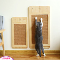 Cat wood Scratch Board Cat Wall mounted Scratcher Pad Kitten Scratching Sisal mat Furniture Sofa Claw Protector Pads HW027