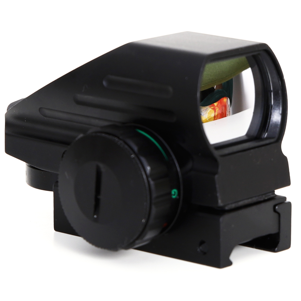Holographic Red Green Dot Sight 1x22x33 Illumination Compact 4 Reticales Dot Reflex Sight With Elevation And Windage Adjustment