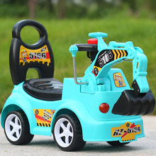 Free Shipping Baby Ride on Toys Children's Excavator Sitting and Riding Excavator Baby Engineering Car with Music car