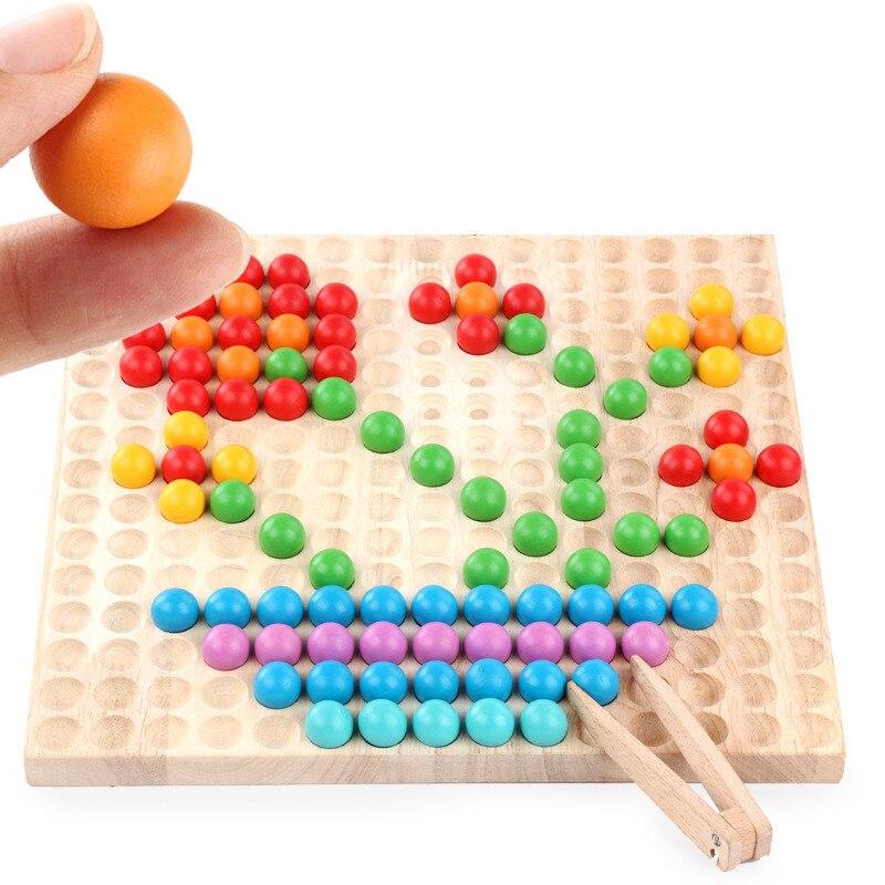 Enfants Attraper Balle Jouet Creative Personnalisé Jigsaw puzzle d'éducation précoce perles en bois Enfants Intelligence Jeux