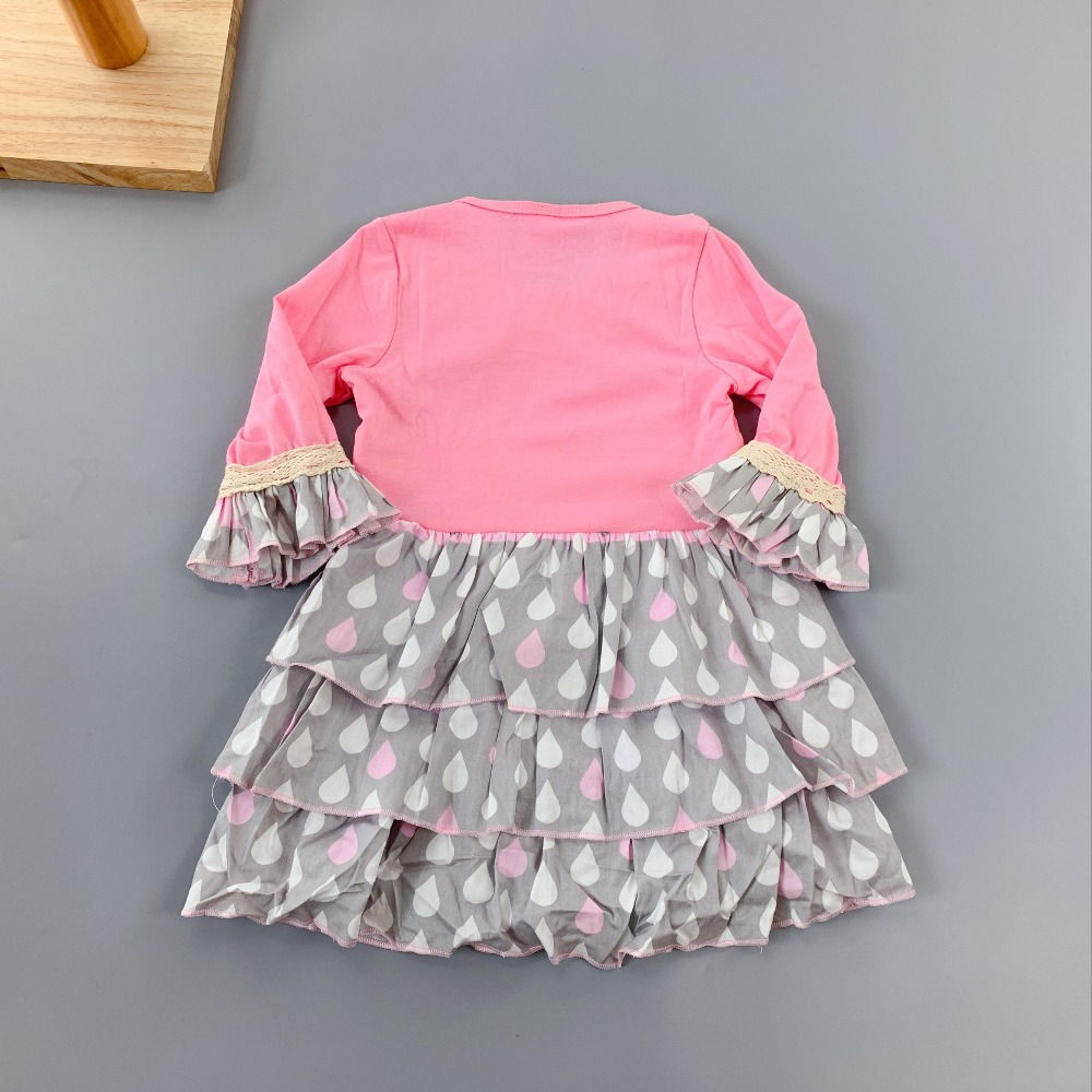 toddlers summer Baby Girls Outfits Infants and Children dresses Girls Ruffles flower frocks for kids puff sleeve knee length in Dresses from Mother Kids