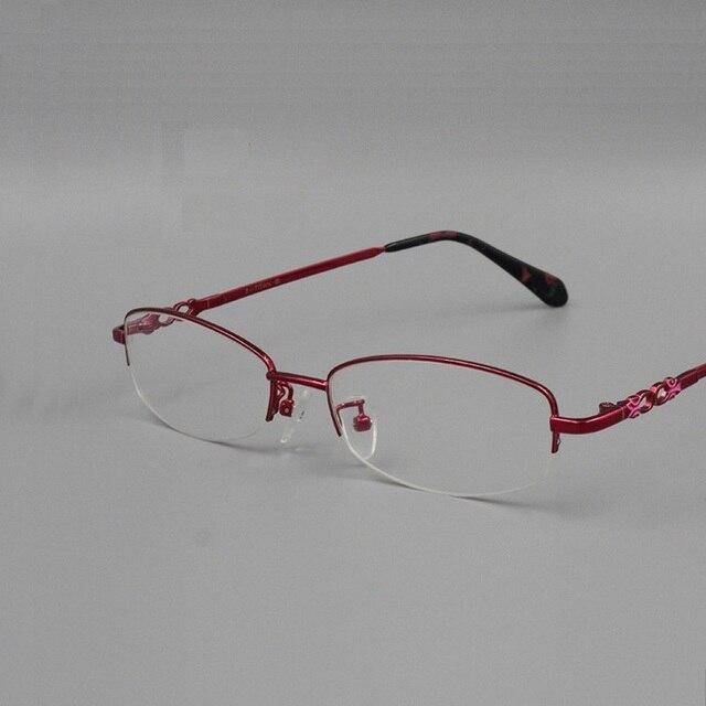 53-18-145 spectacle frame The new elegant ladies eyeglass frame  half frame glasses frame 6009 titanium alloy