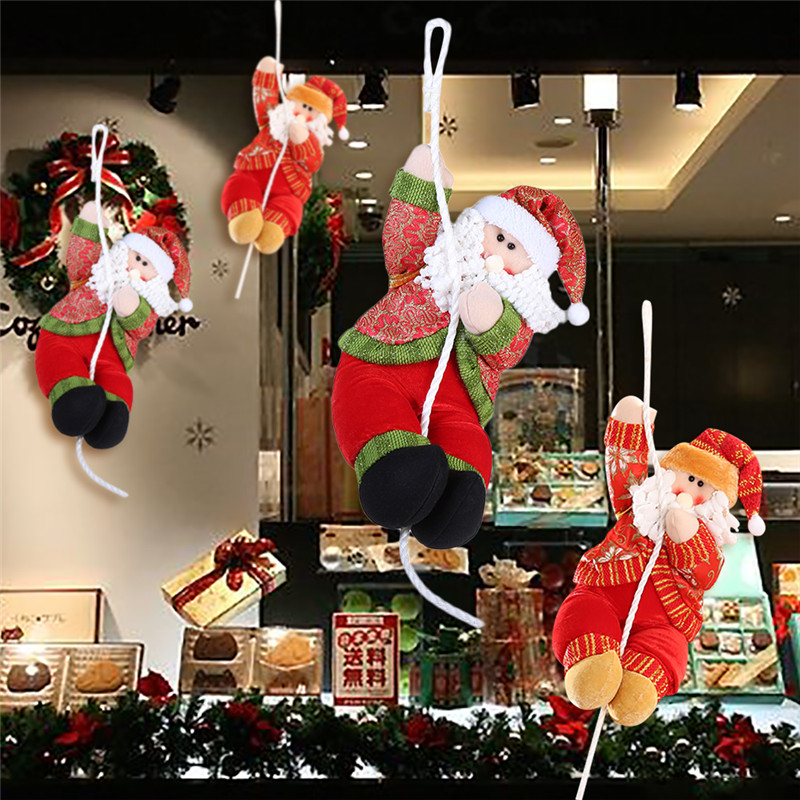 35cm Plush Christmas Decorations Santa Claus Doll Climbing