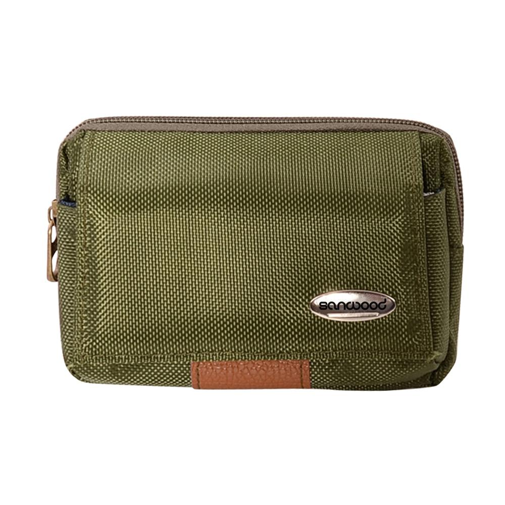 Mens Mobile Phone Coin Waist Bag Canvas Fanny Waist Pack Pouch  BVTX
