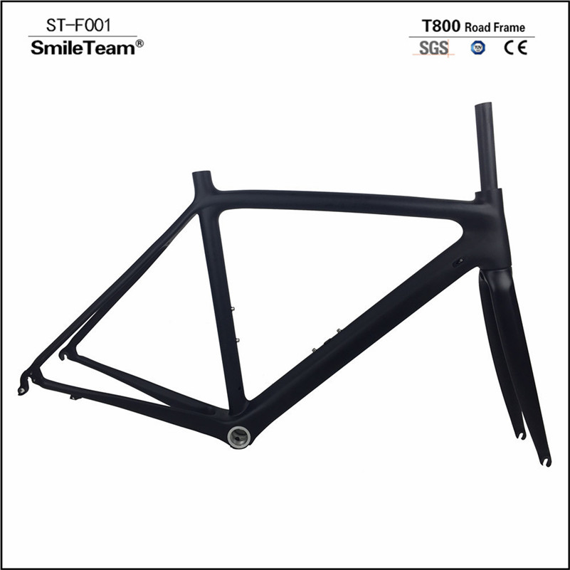 In Stock , Hot Sale Road Bike Carbon Frame With Fork and Headset , Super light  Full Carbon Road Frame  Carbon Bicycle Frame