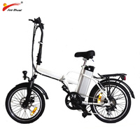 Electric Folding Bike with 250W Brushless Hub Motor 36V 10Ah Lithium Battery Foldable Electric Bicycle Ebike Motorcycle Scooter